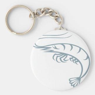 Cool Shrimp Icon Logo Shirt Prawn Basic Round Button Key Ring
