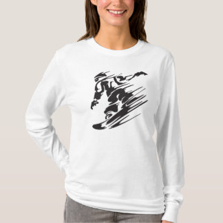 Cool Silhouette Snowboard Mountain T-Shirt