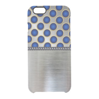 Cool Silver 3D Blue Pattern iPhone Clear Case