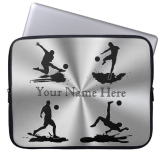 Cool Silver Color Personalized Soccer Cases 15 in
