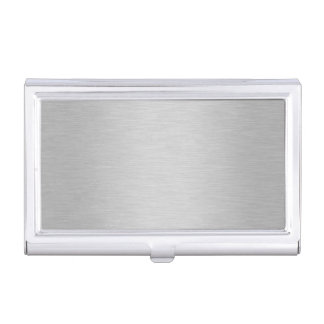Cool Silver Metallic Background Business Card Holder