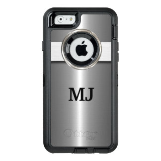 Cool Silver Metallic Look OtterBox Defender iPhone Case