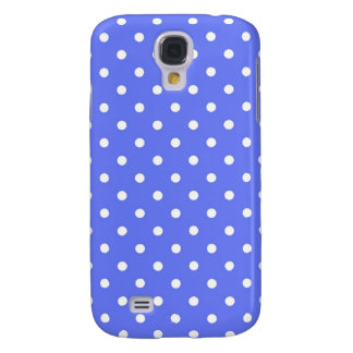 cool simple blue and white polka dots. galaxy s4 cases