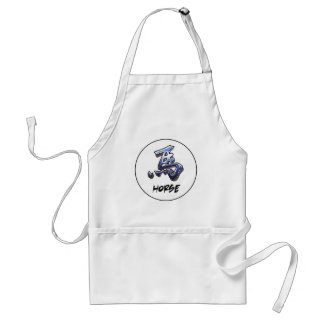 Cool Simple Elegant Chinese Zodiac Sign Horse Standard Apron