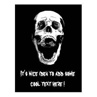 Cool Simple Elegant Classic Black White Skull Postcard