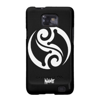 Cool Simple Elegant Classic Black White Tribal Galaxy SII Covers