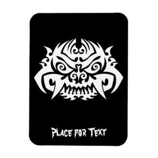 Cool Simple Elegant Classic Black White Tribal Rectangular Photo Magnet