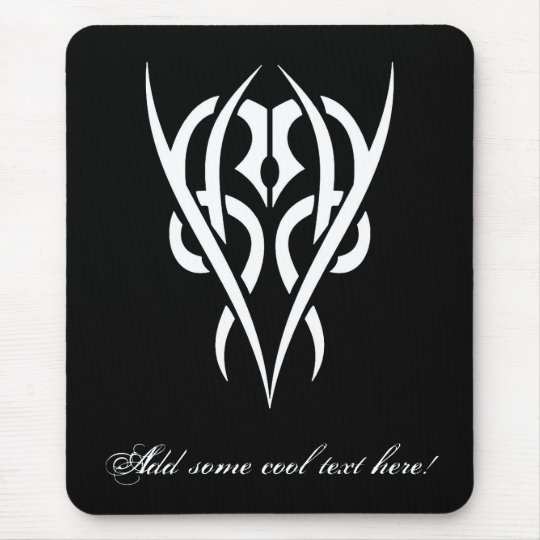 Cool Simple Elegant Classic Black White Tribal Mouse Pad