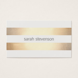 Cool Simple Gold Striped *Not Real Gold Foil Business Card