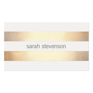 Cool Simple Gold Striped *Not Real Gold Foil Pack Of Standard Business Cards