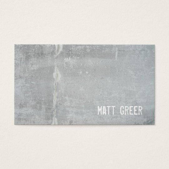 Cool Simple Rustic Grey Concrete Business Card