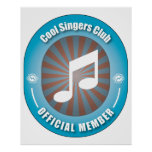 Cool Singers Club Poster