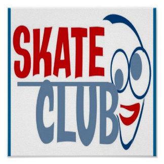 COOL SKATE CLUB POSTER