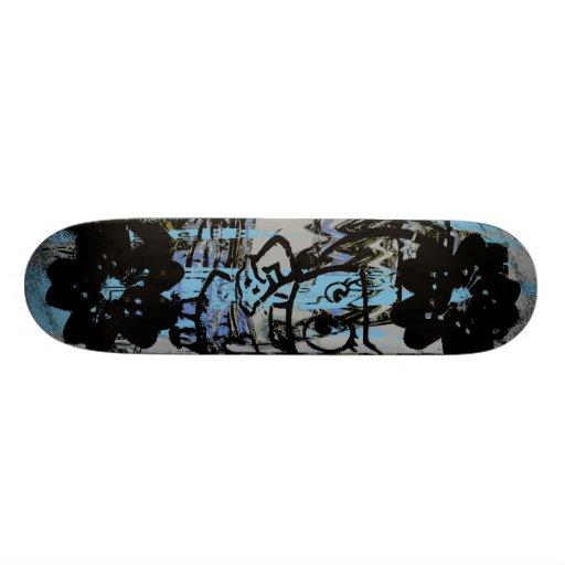 Cool skateboard with dark grunge graphics
