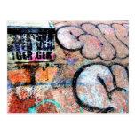 Cool Skateboarding Graffiti On Wall Postcard