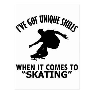 cool skating designs postcard