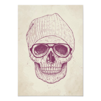 Cool skull 13 cm x 18 cm invitation card