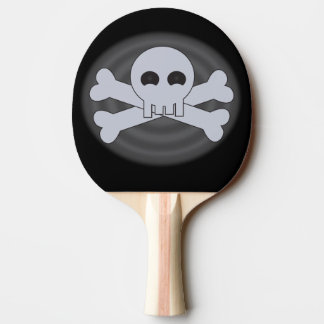 Cool Skull and Crossbones Ping Pong Paddle