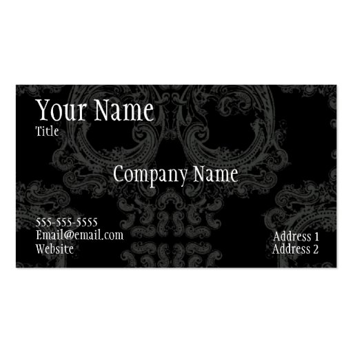 Cool skull pattern area cod business card