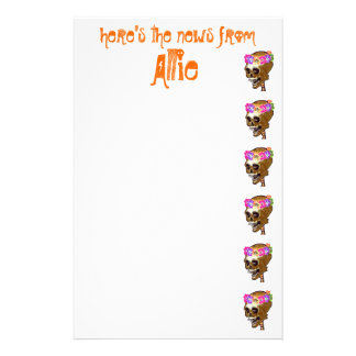 Cool Skull personalized Stationery