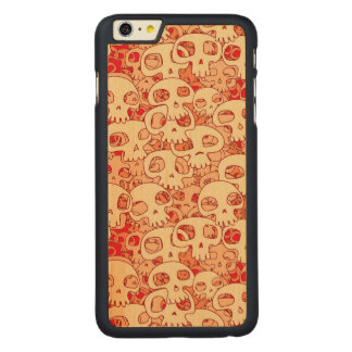 Cool Skulls Carved Maple iPhone 6 Plus Case