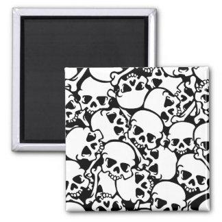 cool skulls square magnet
