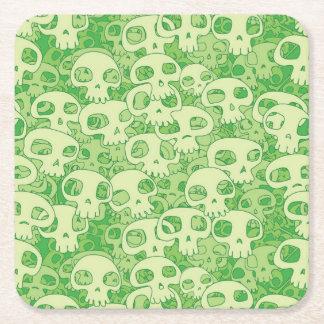 Cool skulls square paper coaster