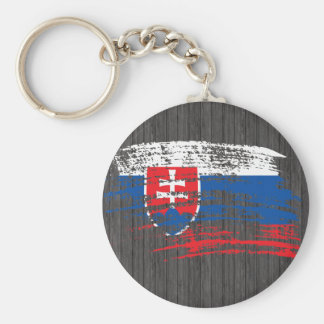Cool Slovak flag design Key Ring