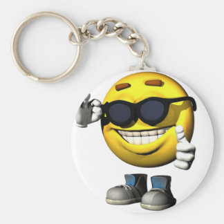 Cool Smiley Face Key Chain