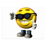 cool smiley face postcard
