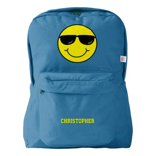 Cool Smiley Face with Sunglasses Personalised Backpack
