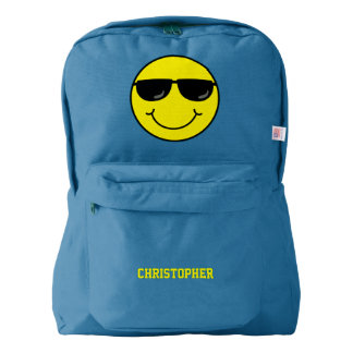Cool Smiley Face with Sunglasses Personalized Backpack