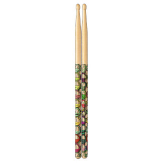 Cool Smiling Faces Pattern I Drumsticks