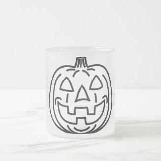 Cool smiling pumpkin coffee mug