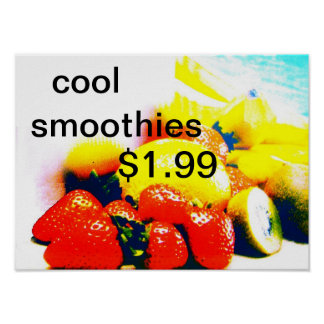 cool smoothies poster
