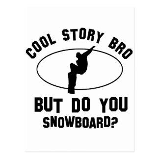 cool snowboard designs postcard