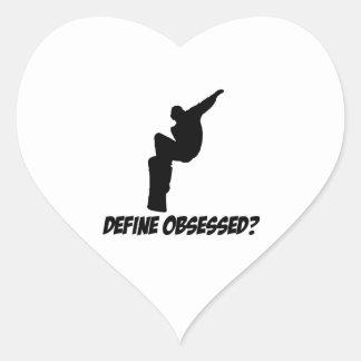 Cool snowboard designs heart sticker