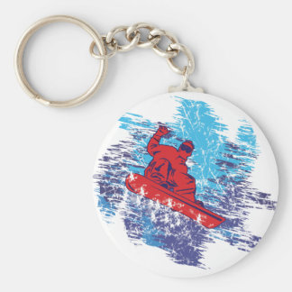 Cool Snowboarder Basic Round Button Key Ring