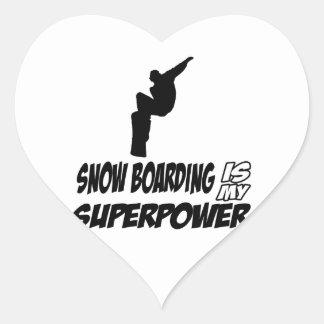 Cool Snowboarding designs Heart Sticker
