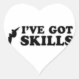 cool snowboarding skills heart sticker