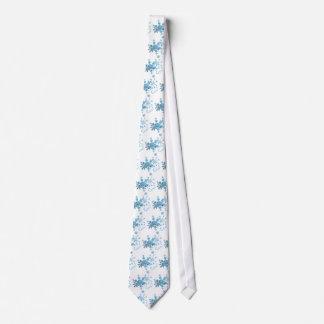Cool snowflakes tie