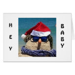 COOL SNOWMAN SAYS YOUR LOVE MELTS MY HEART GREETING CARD