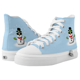 Cool Snowman with Shades and Adorable Smirk Printed Shoes