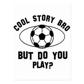 cool soccer designs postcards