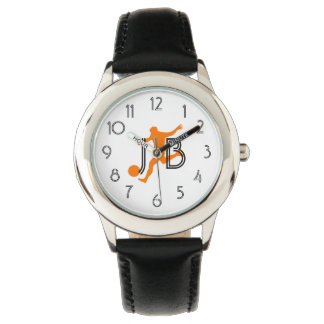 Cool Soccer Football  Add Initials Watch