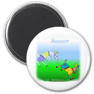Cool soccer gifts for kids 6 cm round magnet