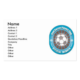 Cool Soccer Players Club Business Card