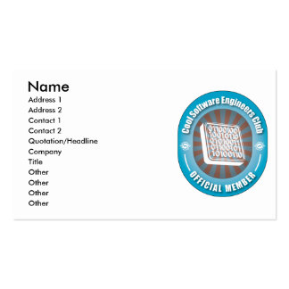 Cool Software Engineers Club Business Card Templates