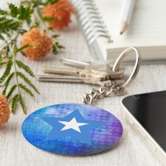 Cool Somalia Flag Star Basic Round Button Key Ring