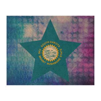 Cool South Dakota Flag Star Cork Fabric